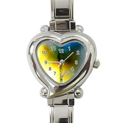 Watercolor Abstract Heart Italian Charm Watch