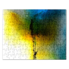 Watercolor Abstract Rectangular Jigsaw Puzzl