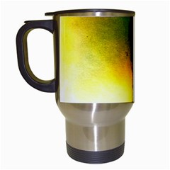Watercolor Abstract Travel Mugs (White)