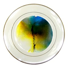 Watercolor Abstract Porcelain Plates