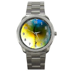 Watercolor Abstract Sport Metal Watches