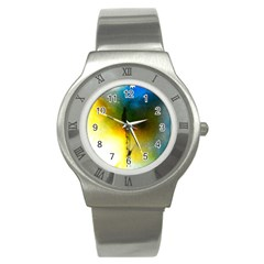 Watercolor Abstract Stainless Steel Watches