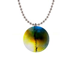 Watercolor Abstract Button Necklaces
