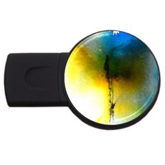 Watercolor Abstract USB Flash Drive Round (4 GB)
