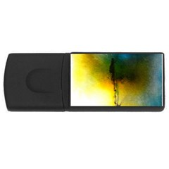 Watercolor Abstract USB Flash Drive Rectangular (4 GB)
