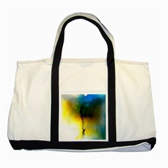 Watercolor Abstract Two Tone Tote Bag