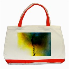 Watercolor Abstract Classic Tote Bag (Red)