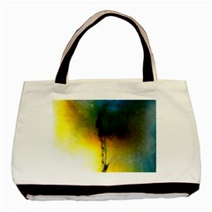 Watercolor Abstract Basic Tote Bag (Two Sides)