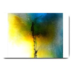 Watercolor Abstract Large Doormat