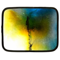 Watercolor Abstract Netbook Case (Large)