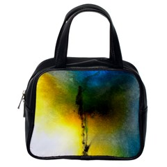 Watercolor Abstract Classic Handbags (One Side)