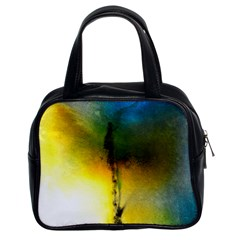 Watercolor Abstract Classic Handbags (2 Sides)