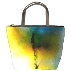 Watercolor Abstract Bucket Bags