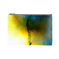 Watercolor Abstract Cosmetic Bag (Large)