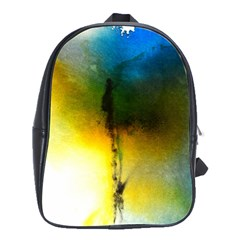 Watercolor Abstract School Bags(Large)