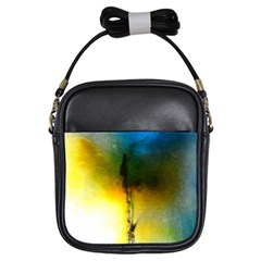 Watercolor Abstract Girls Sling Bags