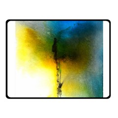 Watercolor Abstract Fleece Blanket (Small)
