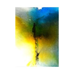 Watercolor Abstract Shower Curtain 48  x 72  (Small)