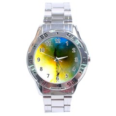 Watercolor Abstract Stainless Steel Men s Watch