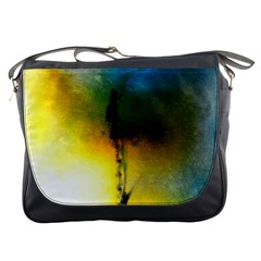 Watercolor Abstract Messenger Bags