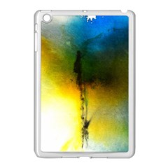 Watercolor Abstract Apple iPad Mini Case (White)