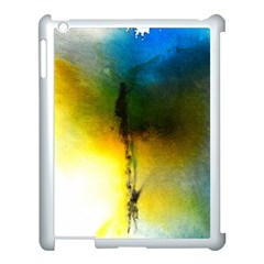 Watercolor Abstract Apple iPad 3/4 Case (White)