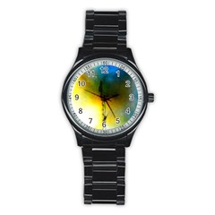 Watercolor Abstract Stainless Steel Round Watches