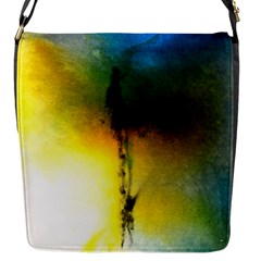 Watercolor Abstract Flap Messenger Bag (S)