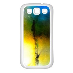 Watercolor Abstract Samsung Galaxy S3 Back Case (White)
