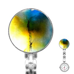 Watercolor Abstract Stainless Steel Nurses Watches