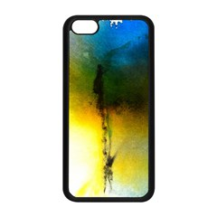 Watercolor Abstract Apple iPhone 5C Seamless Case (Black)