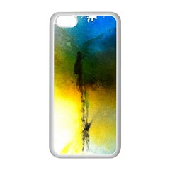 Watercolor Abstract Apple iPhone 5C Seamless Case (White)