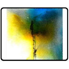 Watercolor Abstract Double Sided Fleece Blanket (Medium)