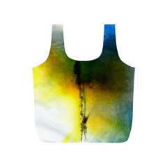 Watercolor Abstract Full Print Recycle Bags (s)  by timelessartoncanvas