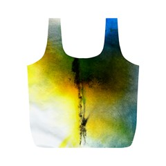 Watercolor Abstract Full Print Recycle Bags (M)