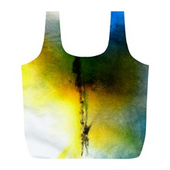 Watercolor Abstract Full Print Recycle Bags (L)