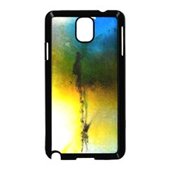 Watercolor Abstract Samsung Galaxy Note 3 Neo Hardshell Case (Black)