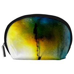 Watercolor Abstract Accessory Pouches (large)