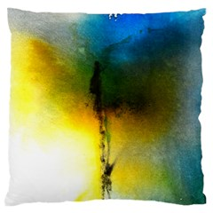 Watercolor Abstract Large Flano Cushion Cases (One Side)