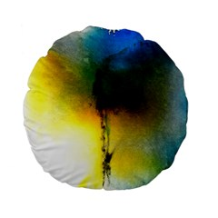 Watercolor Abstract Standard 15  Premium Flano Round Cushions