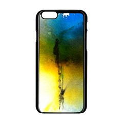 Watercolor Abstract Apple iPhone 6 Black Enamel Case