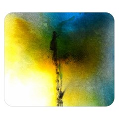 Watercolor Abstract Double Sided Flano Blanket (Small)