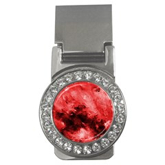 Red Abstract Money Clips (cz)  by timelessartoncanvas