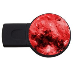 Red Abstract Usb Flash Drive Round (2 Gb)  by timelessartoncanvas