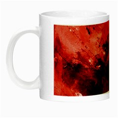 Red Abstract Night Luminous Mugs by timelessartoncanvas