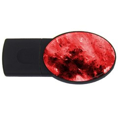 Red Abstract Usb Flash Drive Oval (4 Gb)  by timelessartoncanvas