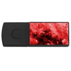 Red Abstract Usb Flash Drive Rectangular (4 Gb)  by timelessartoncanvas