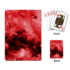 Red Abstract Playing Card by timelessartoncanvas