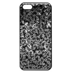Gray Cubes Apple Iphone 5 Seamless Case (black) by timelessartoncanvas