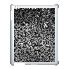 Gray Cubes Apple Ipad 3/4 Case (white) by timelessartoncanvas